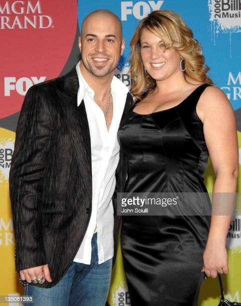 Chris Daughtry and his wife Deanna Daughtry during 2006 Billboard Music Awards Arrivals at MGM Grand Hotel in Las Vegas Nevada United States
