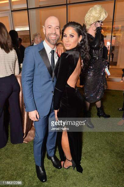 Chris Daughtry and Mikalah Gordon attend The Trevor Project's TrevorLIVE LA 2019 at The Beverly Hilton Hotel on November 17 2019 in Beverly Hills...