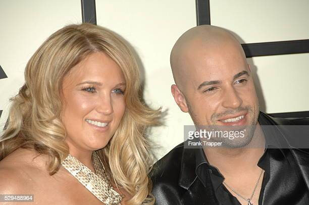 Chris Daughtry and Wife Deanna arrive on the red carpet during the 50th Annual GRAMMY�� Awards at the Staples Center in Los Angeles