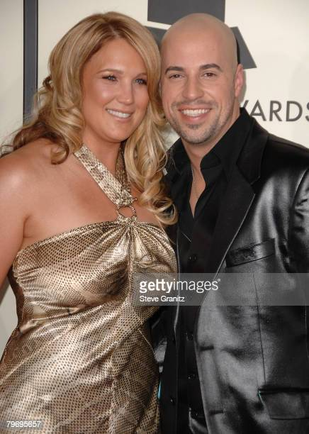 Chris Daughtry and Wife Deanna arrives to the 50th Annual GRAMMY Awards at the Staples Center on February 10 2008 in Los Angeles California