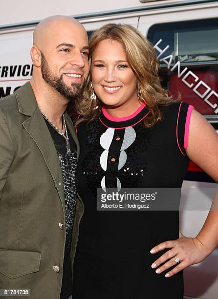 Chris Daughtry and wife Deanna Daughtry arrive to the Premiere of Sony Pictures' 'Hancock at Grauman's Chinese Theatre on June 30 2008 in Hollywood...