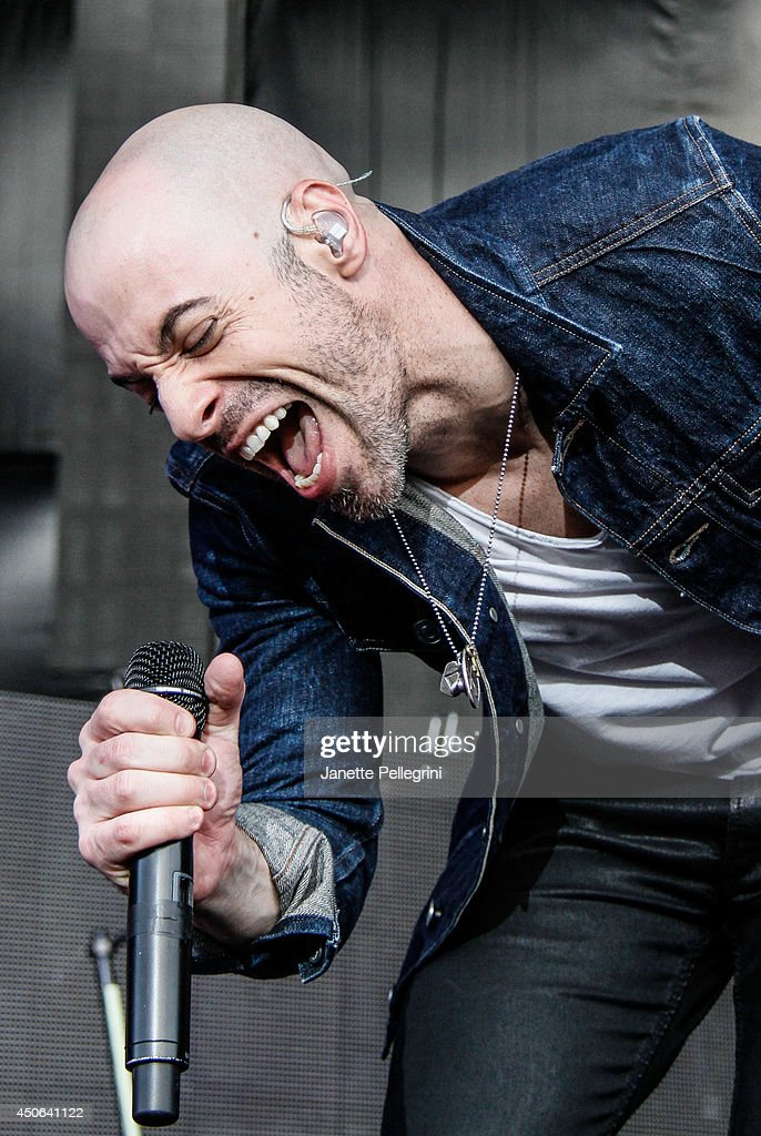 Chris Daughtry of Daughtry performs in concert at Nikon at Jones Beach Theater on June 14, 2014 in Wantagh, New York.