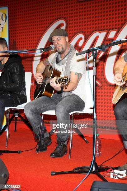Chris Daughtry of Daughtry performs in the LITEFM CocaCola Lounge in Chicago Illinois on OCTOBER 21 2011