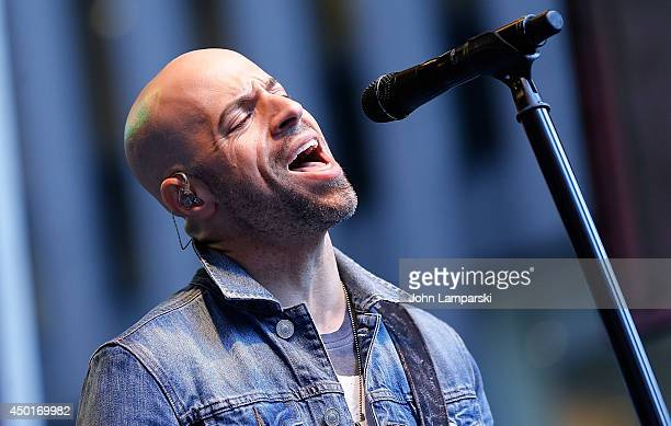 Chris Daughtry performs during 'FOX Friends' All American Concert Series outside of FOX Studios on June 6 2014 in New York City