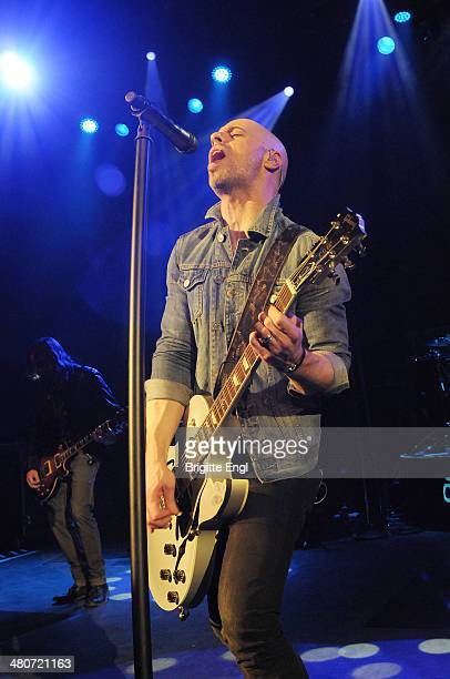 Chris Daughtry performs on stage at Symphony Hall on March 26 2014 in Birmingham United Kingdom