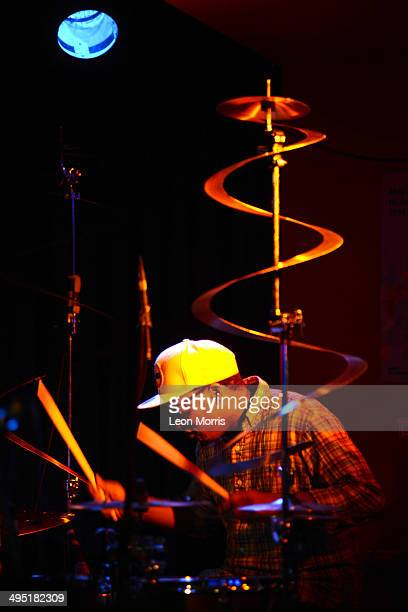 Chris Dave performs on stage during Melbourne International Jazz Fesyival at Bennet's Lane Jazz Club on June 1 2014 in Melbourne Australia