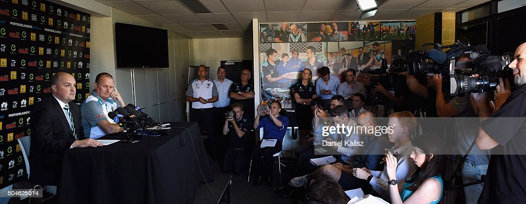 Port Adelaide Power Press Conference : News Photo