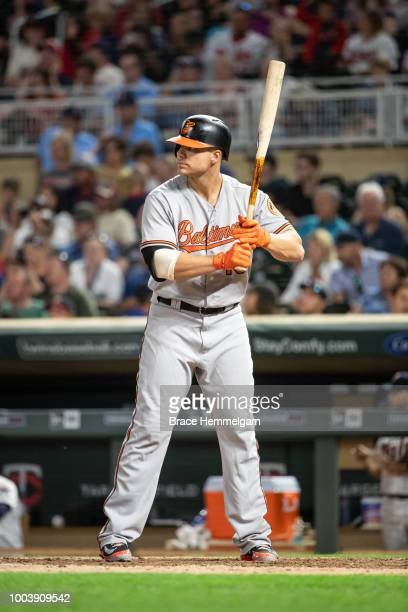 Chris Davis of the Baltimore Orioles bats against the Minnesota Twins on July 5 2018 at Target Field in Minneapolis Minnesota The Twins defeated the...