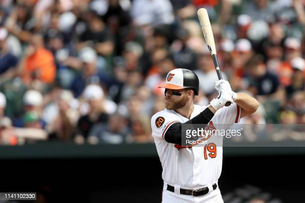 Chris Davis of the Baltimore Orioles bats against the New York Yankees at Oriole Park at Camden Yards on April 07 2019 in Baltimore Maryland