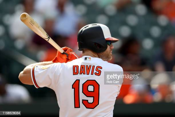 Chris Davis of the Baltimore Orioles bats against the San Diego Padres at Oriole Park at Camden Yards on June 26, 2019 in Baltimore, Maryland.