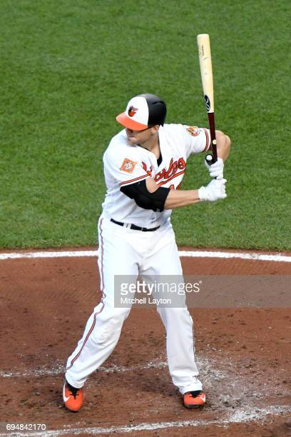 Chris Davis of the Baltimore Orioles prepares for a pitch during a baseball game against the Pittsburgh Pirates at Oriole Park at Camden Yards on...