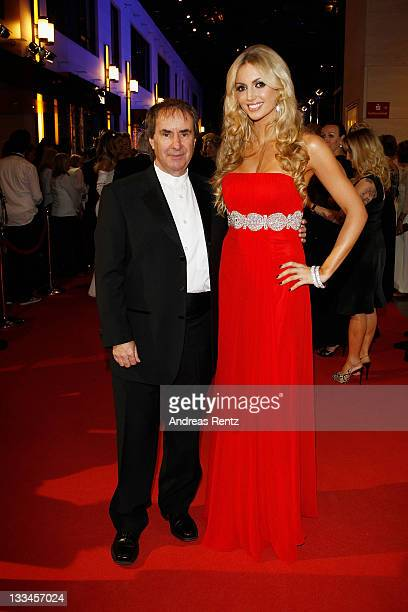 Chris de Burgh and Rosanna Davison attend the 20th UNESCO charity gala at Maritim Hotel on November 19, 2011 in Duesseldorf, Germany.