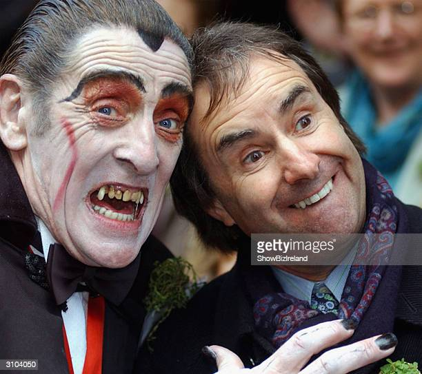 Chris De Burgh with Dracula at the St Patrick's Day Parade Dublin Ireland March 17 2004