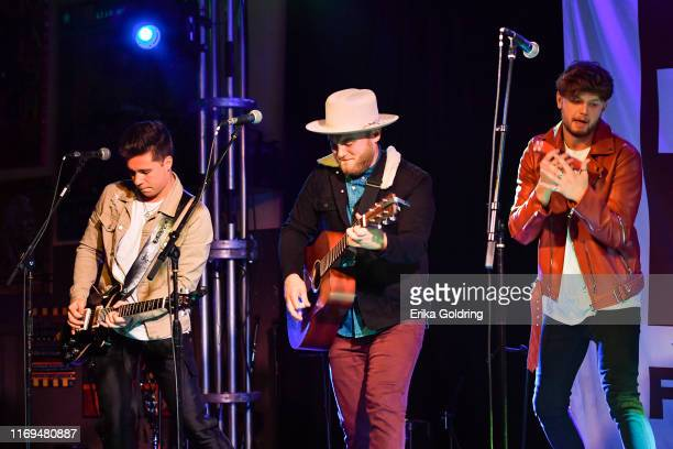 Chris Deaton, Austin Luther and Jordan Harvey of King Calaway perform at 3rd and Lindsley on August 21, 2019 in Nashville, Tennessee.