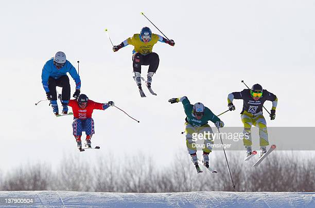 Chris Del Bosco of Canada takes the gold medal in the men's skier X during Winter X Games 2012 at Buttermilk Mountain on January 29 2012 in Aspen...