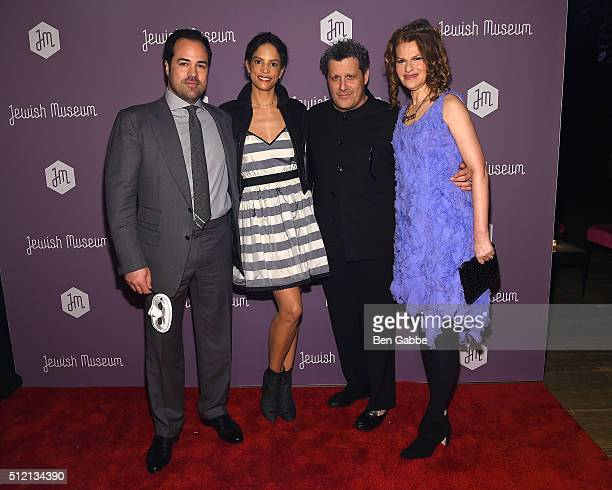 Chris Del Gatto Veronica Webb Del Gatto Isaac Mizrahi and Sandra Bernhard attend the Jewish Museum's Purim Ball at the Park Avenue Armory on February...