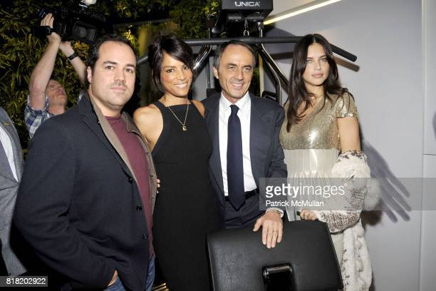 Chris Del Gatto Veronica Webb Nerio Alessandri and Adriana Lima attend Technogym US Showroom Launch Event at 70 Greene St on November 16 2010 in New...