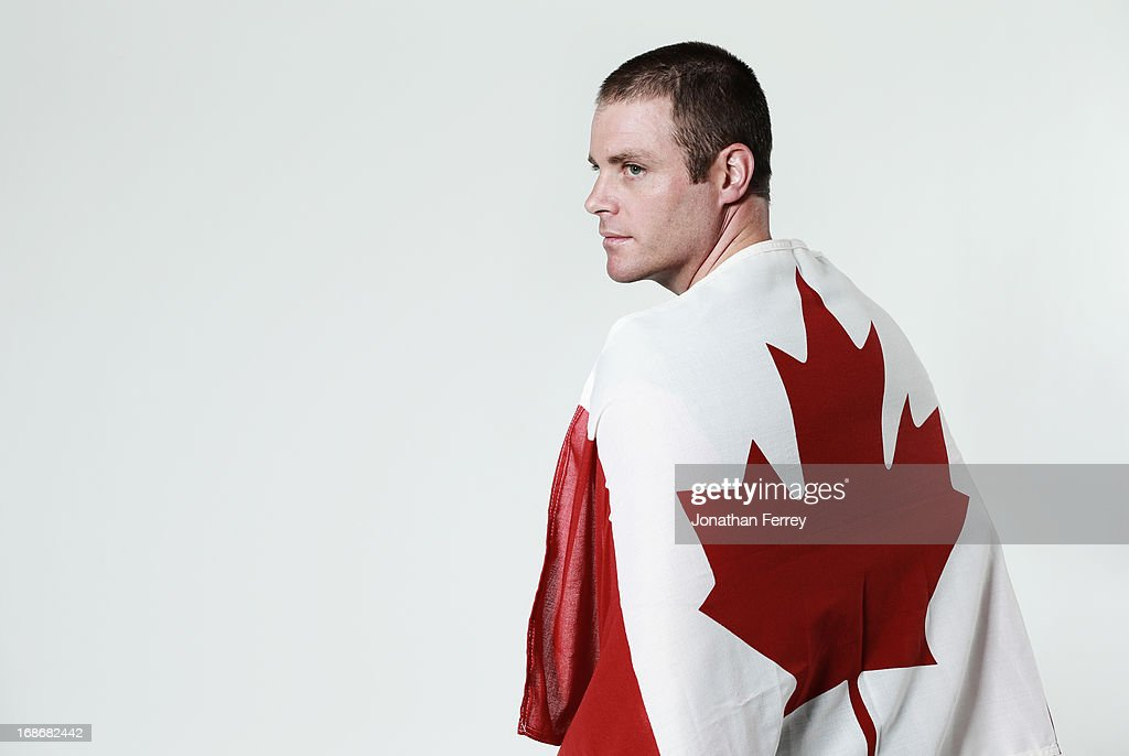 Chris Delbosco poses for a portrait during the Canadian Olympic Committee Portrait Shoot on May 13, 2013 in Vancouver, British Columbia, Canada.