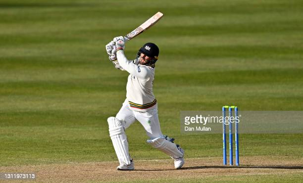 Chris Dent of Gloucestershire bats during day four of the LV= County Championship match between Gloucestershire and Surrey at Bristol County Ground...