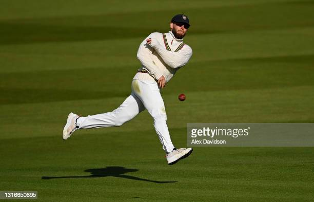 Chris Dent of Gloucestershire fields during Day One of the LV= Insurance County Championship match between Middlesex and Gloucestershire at Lord's...