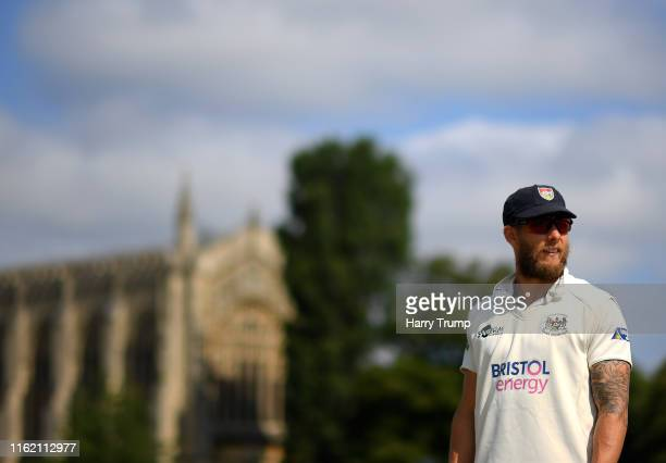 Chris Dent of Gloucestershire looks on during Day One of the Specsavers County Championship Division Two match between Gloucestershire and...