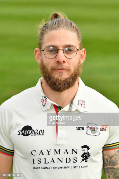 Chris Dent of Gloucestershire poses during the Gloucestershire County Cricket Club Photocall at Bristol County Ground on April 01, 2021 in Bristol,...