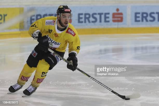 Chris DeSousa of Vienna during the Vienna Capitals v EC VSV Erste Bank Eishockey Liga at Erste Bank Arena on January 18 2019 in Vienna Austria