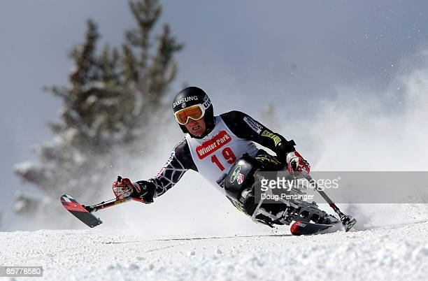 Chris DevlinYoung skis the Super G enroute to finishing second in the Men's Sitting Skier Super Combined at the 2009 US Adaptive Alpine Nationals at...