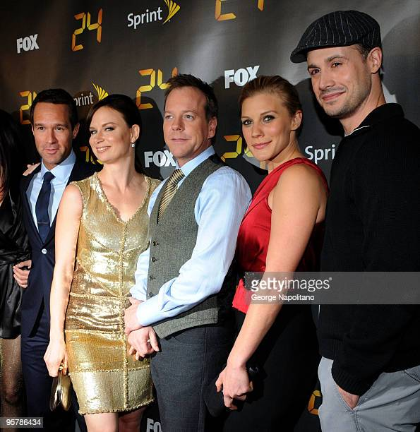 "Chris Diamantopoulos, Mary Lynn Rajskub , Kiefer Sutherland, Katee Sackhoff and Frddie Prinze Jr. Attend the ""24"" Season 8 premiere at Jack H...."
