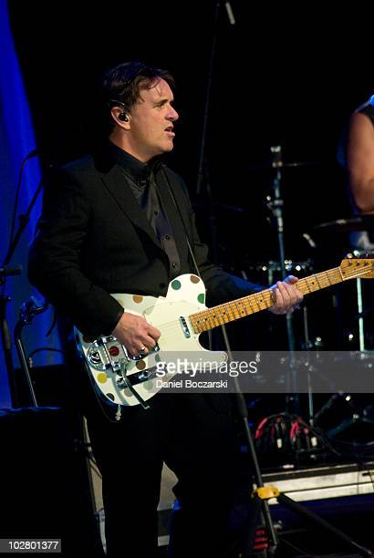 Chris Difford of Squeeze performs on stage at Ravinia on July 10, 2010 in Highland Park, Illinois.