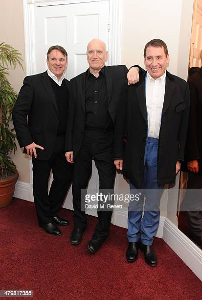 Chris Difford Wilko Johnson and Jools Holland attends 'An Evening With Suggs and Friends' for Pancreatic Cancer UK at the Porchester Hall on March 20...