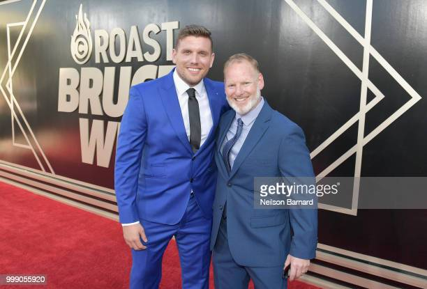 Chris Distefano and Vice President Talent and Development Comedy Central Jordan Ellner attend the Comedy Central Roast of Bruce Willis at Hollywood...
