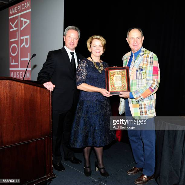 Chris DiTullio Jill Soltau and Monty Blanchard attend the American Folk Art Museum Annual Gala at JW Marriott Essex House on November 16 2017 in New...