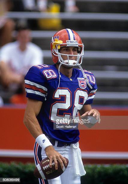 Chris Doering of the Florida Gators warmsup before the game against the Kentucky Wildcats on September 10 1994 at Ben Hill Griffin Stadium in...