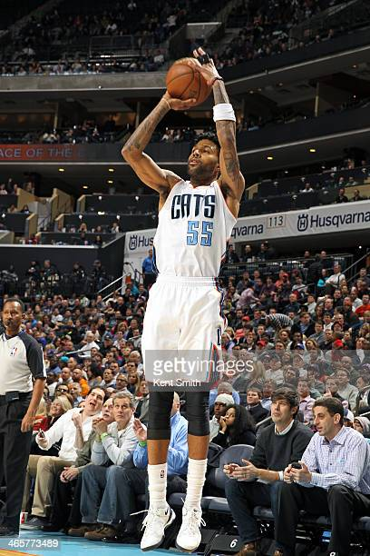 Chris DouglasRoberts of the Charlotte Bobcats shoots against the Los Angeles Clippers at the Time Warner Cable Arena on January 22 2014 in Charlotte...