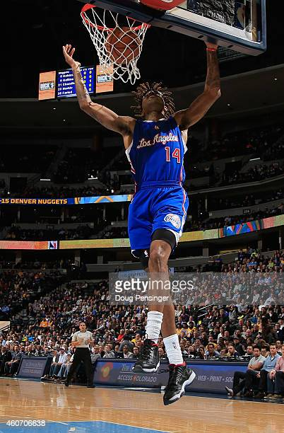 Chris DouglasRoberts of the Los Angeles Clippers dunks the ball against the Denver Nuggets at Pepsi Center on December 19 2014 in Denver Colorado The...