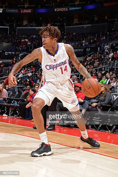 Chris DouglasRoberts of the Los Angeles Clippers handles the ball against the Atlanta Hawks on January 5 2015 at STAPLES Center in Los Angeles...