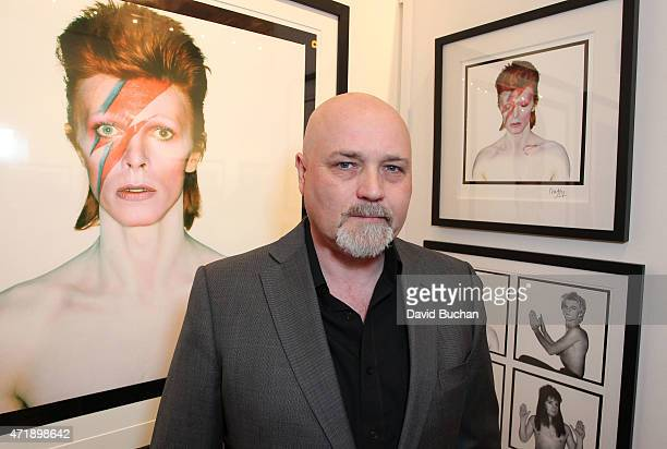 Chris Duffy attends the 5th Annual Brit Week exhibition of David Bowie A Lad Insane by Brian Duffy on May 1 2015 in Los Angeles California