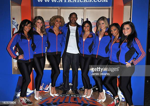 Chris Duhon and Knicks City Dancers attend New York Knicks Bowl on February 1 2010 in New York City