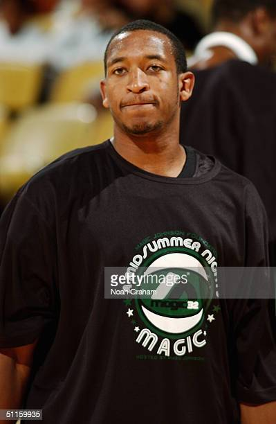 Chris Duhon of the Chicago Bulls attends 'A Midsummer Night's Magic' chairty basketball game at the Forum in Inglewood on August 1 2004 in Inglewood...