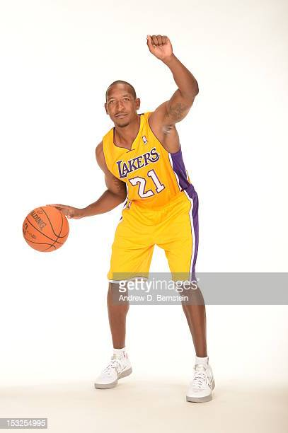 Chris Duhon of the Los Angeles Lakers poses for a photo during Media Day at Toyota Sports Center on October 1 2012 in El Segundo California NOTE TO...