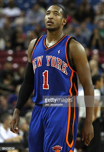 Chris Duhon of the New York Knicks looks on against the Sacramento Kings on November 25 2009 at ARCO Arena in Sacramento California NOTE TO USER User...