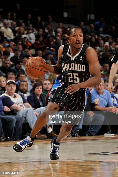 Chris Duhon of the Orlando Magic drives against the Cleveland Cavaliers on March 21 2011at The Quicken Loans Arena in Cleveland Ohio NOTE TO USER...