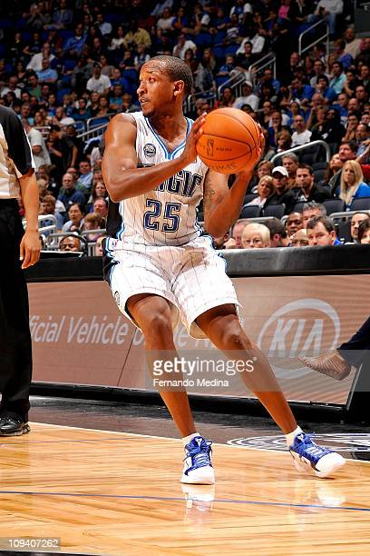 Chris Duhon of the Orlando Magic moves the ball against the Cleveland Cavaliers on November 26 2010 at the Amway Center in Orlando Florida NOTE TO...