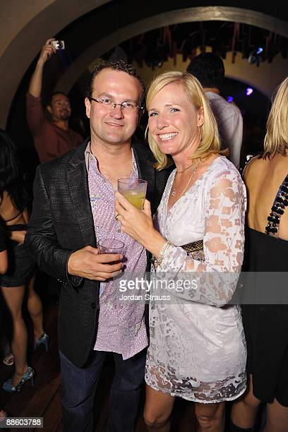 Chris Dunn and guest attend the Official OnlineBootyCall Million Dollar Sweepstakes Party at Opera Crimson on June 20 2009 in Los Angeles California