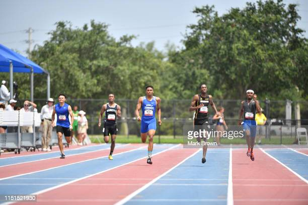 Chris Dupree Garret Shedrick Willington Wright Trey Johnson and Elijah Berry compete in the 400m during the USA Track Field U20 Outdoor Championships...