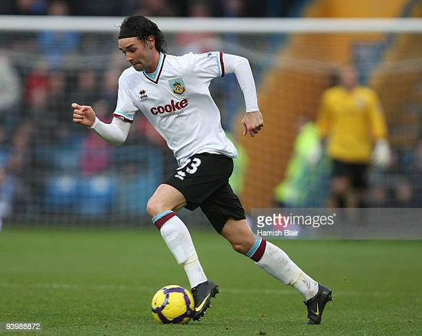 Chris Eagles of Burnley in action during the Barclays Premier League match between Portsmouth and Burnley at Fratton Park on December 5 2009 in...