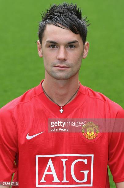 Chris Eagles of Manchester United poses during the club's official annual photocall at Old Trafford on August 28 2007 in Manchester England