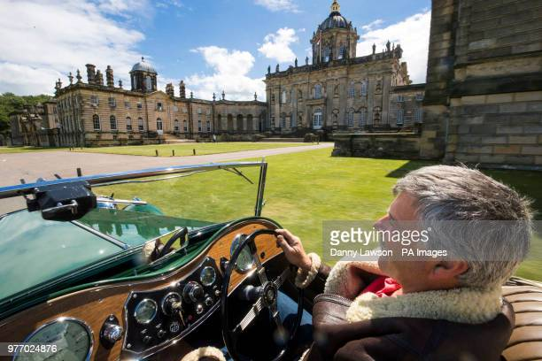 Chris Edwards drives his 1946 MG TC during the Classic Car amp Motor Show at Castle Howard in Yorkshire