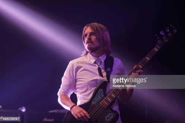 Chris Edwards of Kasabian performs on stage at Alhambra Theatre on May 22 2014 in Dunfermline United Kingdom